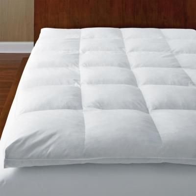 The Company Store Ultimate 4 In Full Down Baffled Mattress Topper White Mattress Mattress Topper Top Mattress