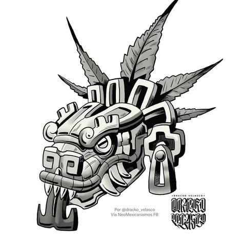 Mayan Tattoos, Mexican Art Tattoos, Tattoo Design Drawings, Art Drawings, Quetzalcoatl Tattoo, Aztec Warrior Tattoo, Mexico Tattoo, Aztec Symbols, Aztec Tattoo Designs