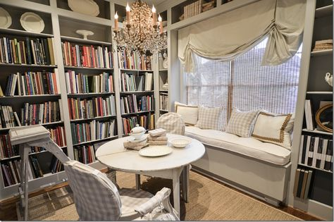 Joni Webb of Cote de Texas - Her stunning library