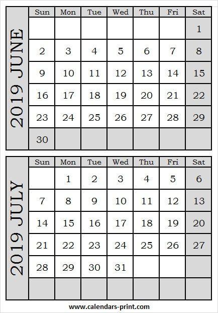 June And July 2019 Calendar.June And July 2019 Calendar June 2019 Calendar 2019 Calendar