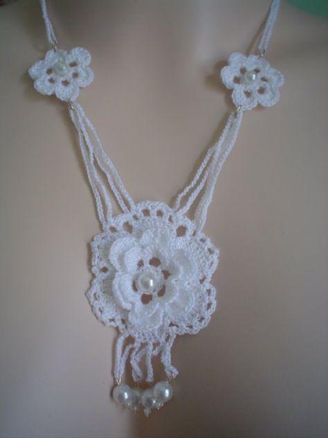 personalizadas diseño de moda moderno y elegante en moda Collares tejidos a crochet paso a paso - Imagui | collares ...