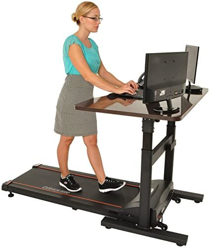 Organize Your Office To Be More Active Mind Over Clutter In 2020 Walking Desk Treadmill Desk Electric Treadmill