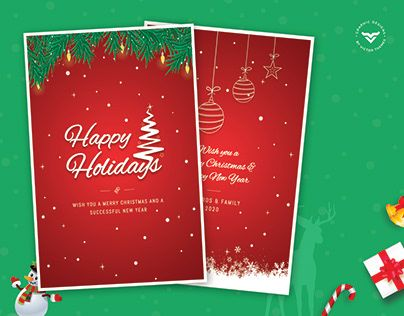 Happy Holidays Greeting Card By Victorthemesnx On Envato Elements Happy Holiday Greeting Cards Happy Holidays Greetings Holiday Greetings