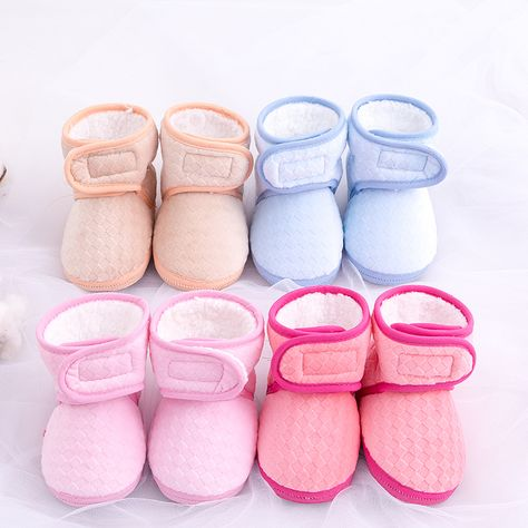 KIDSUN Infant Baby Girls Sandals Elastic Back Strap Flats Slippers Soft Shoes Toddles Boys Faux Fur Slides Shoes First Walker House Shoes
