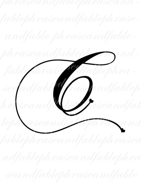 Letter C Hearts 274 Digital Download Alphabet Initial Name   Etsy
