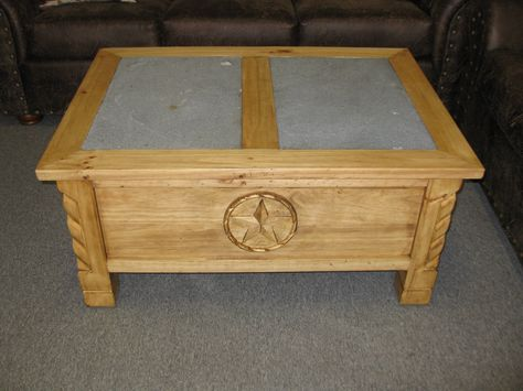 Check Out This Very Cool Lava Rock Texas Star Coffee Table