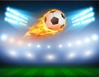 Ilustracion Vectorial De Un Futbol En Una Llama Ardiente Soccer Inspiration Football Illustration Football
