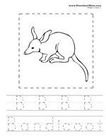 Australian Animals Alphabet Coloring Pages