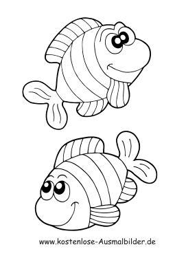 Ausmalbild Fische 1 Ausdrucken Ausmalbilder Fische Fische Zeichnen Fisch Zeichnung