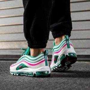 Nike Air Max 97 'White & Kinetic Green & Pink Blast