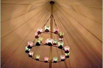 Double Tea Light Chandelier Tea Lights Tent Decorations Tent
