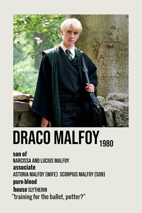draco malfoy minimalist poster