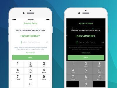 Phone Number Verification Screen Design | Screen design, Phone numbers,  Phone
