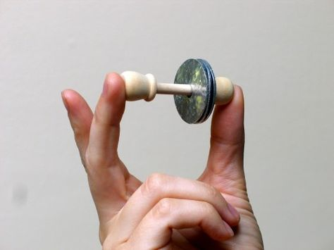 Homemade musical instrument - percussion - cute little jingle shaker made from washers!