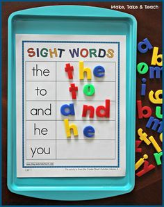 Sheet Bundle for Sight Words, Blends/Digraphs and Word Families Cookie Sheet Activities for learning and practicing sight words. Great hands-on learning!Cookie Sheet Activities for learning and practicing sight words. Great hands-on learning! Kindergarten Centers, Kindergarten Reading, Kindergarten Classroom, Classroom Activities, Classroom Decor, 1st Grade Centers, Kindergarten Morning Work, Phonics Centers, Literacy Centres
