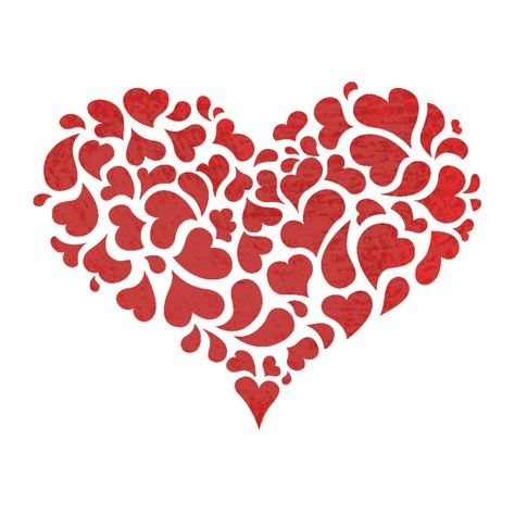 "0.50/"" HEART STENCIL MINI HEARTS TEMPLATE ART CRAFT PAINT BACKGROUND PATTERN NEW"