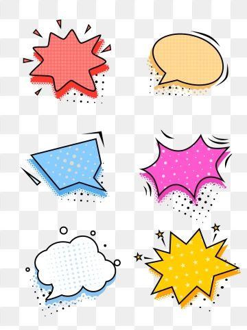 Pop Style Dialog Box Explosion Element Set Illustration Frame Texture Pop Wind Png Transparent Clipart Image And Psd File For Free Download Color Pencil Illustration Clip Art Print Design Template