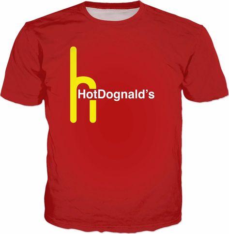 ROTS HotDognalds TShirt Hot Dog Parody Meme (AOP