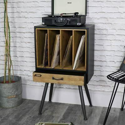 Classique Retro Vintage Disque Vinyle Stockage Classement Armoire Rustique Chic Ebay Rangement Vinyle Meuble Pour Platine Vinyle Meuble Vinyle