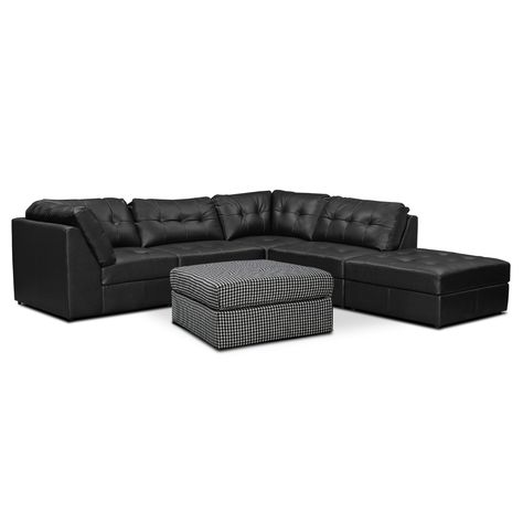 Cool Aventura 6 Pc Sectional Value City Furniture Value City Theyellowbook Wood Chair Design Ideas Theyellowbookinfo