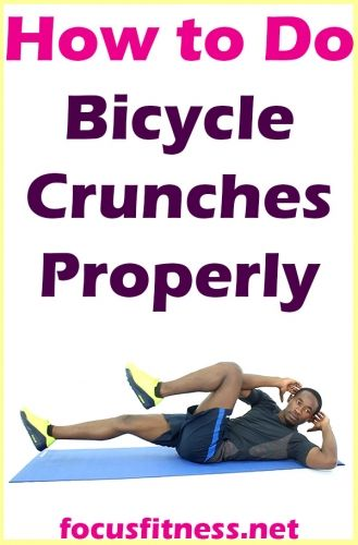 How To Do Bicycle Crunches Exercise Properly Bicycle Crunches