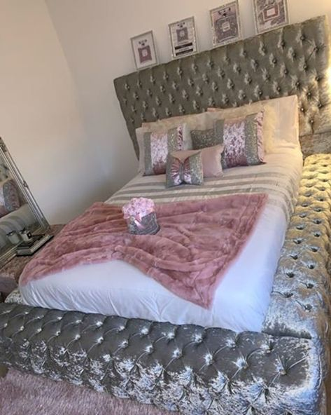 Prices are for FRAME ONLY! Standard Headboard Height is Measurements: Double: wide x long x Headboard Height x Foot-end Height King size: wide x long x Headboard Height x Foot-end Height Superking: wide x long x Headboard Height x Foot-end Height Bedroom Decor For Teen Girls, Cute Bedroom Ideas, Girl Bedroom Designs, Room Ideas Bedroom, Girl Bedrooms, Bed Ideas, Luxury Rooms, Luxurious Bedrooms, Decor Home Living Room