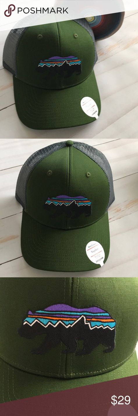 Patagonia Men's Trucker Hat Mid Crown Bear New Patagonia mid crown