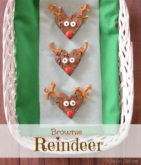 Creative Brownie Reindeer Recipe that is Santa Approved!