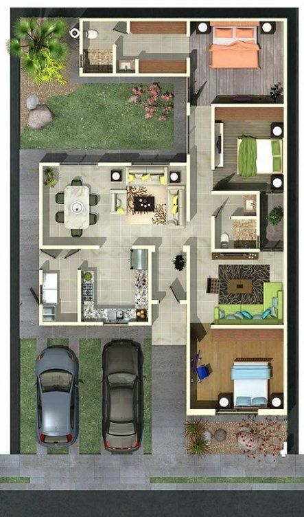 60 Trendy Ideas For Home Garden Design Layout House Plans House Plans House Design Farm House Living Room