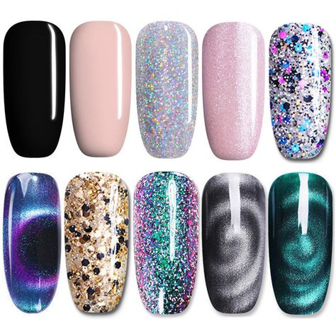 7.5ml Soak Off UV Gel Polish Magnetic Nude Holographic Nail Gel Varnish UR SUGAR #Nail Care 1 Bottle 7.5ml UR SUGAR Nail UV Gel Polish. Suitable to apply on UV gel nails acrylic nails and natural nails etc. Generally speaking it takes shorter to arrive for major cities but longer for remote areas.