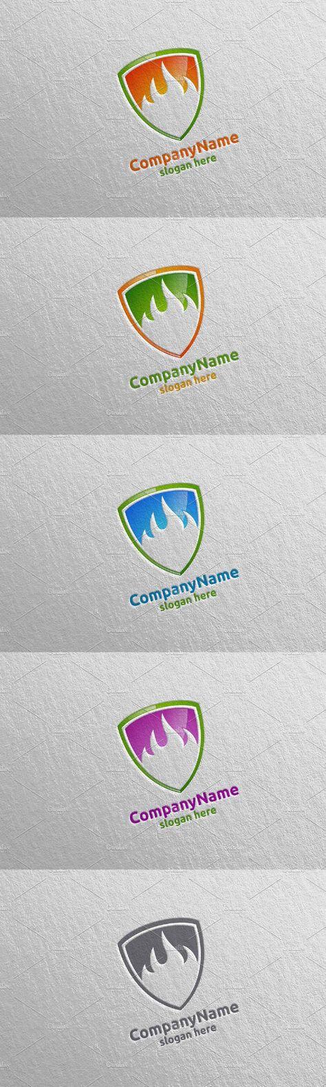 3D Fire Flame Element Logo Design 10