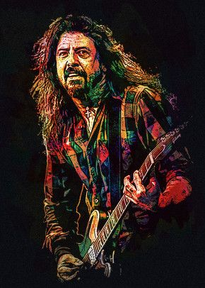 dave grohl rock n roll art cool artwork