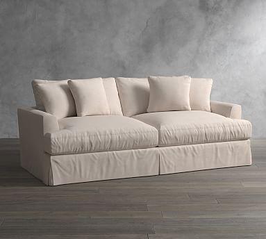 Sullivan Fin Arm Deep Seat Slipcovered Sofa Most Comfortable
