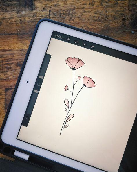 Pink flower lockscreen design