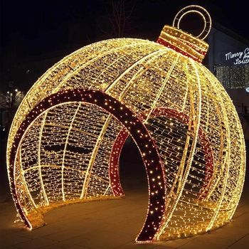 Llarge Outdide Wslk Thtough Ornsment Google Search Holiday Lights Outdoor Christmas Light Show Holiday Lights Display