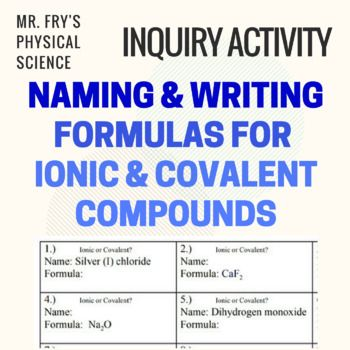 Writing Naming Formulas For Ionic Covalent Compounds Hs