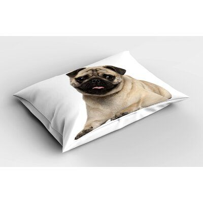 East Urban Home Ambesonne Pug Pillow Sham 9 Months Old Pug Puppy