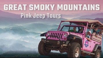 You Can Now Tour The Smokies In A Pink Jeep Wrangler Wbir Com Pink Jeep Pink Jeep Wrangler Smokies