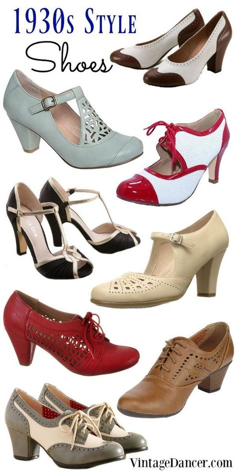 Ideas For Moda Vintage Shoes Fashion 1930s Fashion, Fashion Moda, Sport Fashion, Retro Fashion, Trendy Fashion, Fashion Shoes, Vintage Fashion, Womens Fashion, Fashion Trends