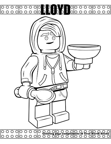 Coloring Page Lloyd True North Bricks Ninjago Coloring Pages Lego Coloring Pages Coloring Pages