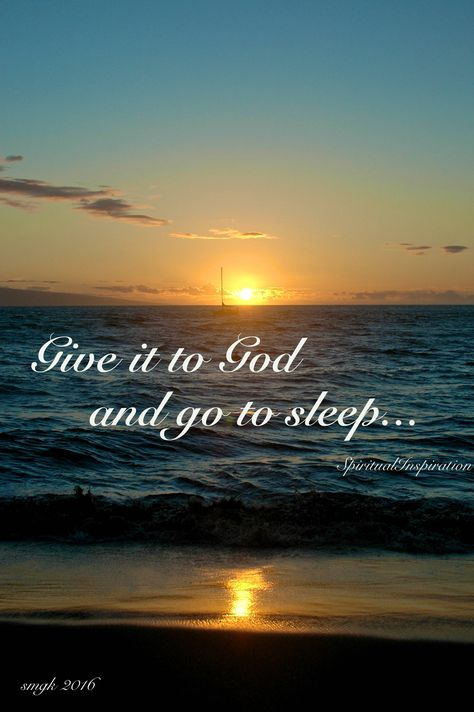 Give it to God and go to Sleep by 3ButterfliesPhotos on Etsy