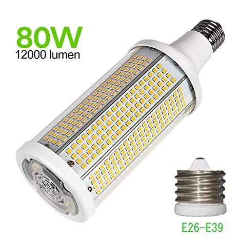 80w Led Corn Light Bulb 12000 Lumens Street And Area Lighting 400 Watt Equivalent Bulb Led Philips Led