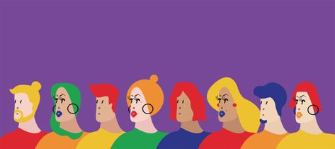 Colorful group of people vector illustra... | Free Vector #Freepik #freevector #background #people #love #illustrator