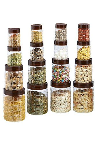 Steelo Plastic Pet Container Set 16 Pcs 1200ml X 8 200 Https