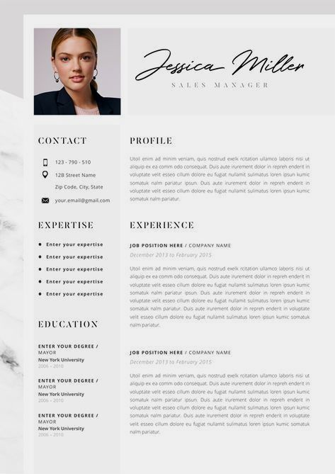 33 Simple Cv Template Minimalist With Photo In 2021 Resume Template Professional Modern Resume Template Professional Resume