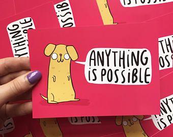 Any 10 Postcards Katie Abey Motivation Pun Postcards Postcards