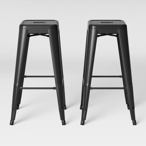 Pull Up The Carlisle Backless Metal Barstools From Threshold And
