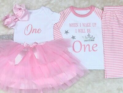 Princess Baby girl outfit WITH Pink Birthday Pyjamas Personlised