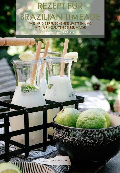 Rezept für Brazilian Limeade – selbstgemachte Limetten-Limo mit 3 Zutaten