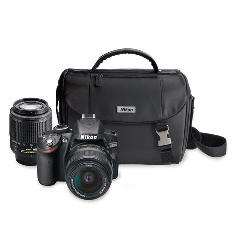 SAVE $280 + FREE SHIPPING! Give the gift of memories... Nikon 24.2MP Digital SLR Kit with 18-55MM and 55-20MM Zoom Lenses | PCRichard.com | D32002BAGKIT